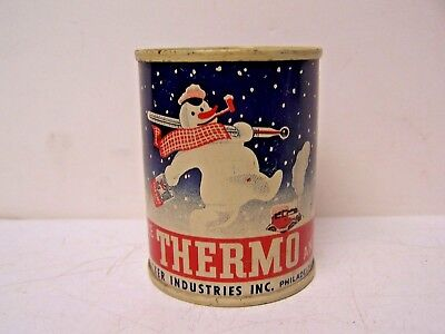 Vintage Thermo Anti Freeze Advertising COIN BANK Can--Rare PUBLICKER  PHILA PA