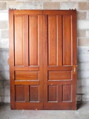 Antique Victorian Style Single Pocket Door - C. 1890 Fir Architectural Salvage