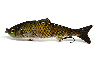 "6"" Multi Jointed Bass Pike Fishing Hard Lure Baits Stickbait Life-like"