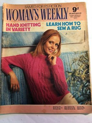 Woman's Weekly Magazine Womans Vintage Jan 1971 Rug Patterns Felix the Cat Ad