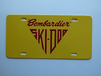 Vintage Snowmobile Early Ski Doo Bombardier Novelty License Plate