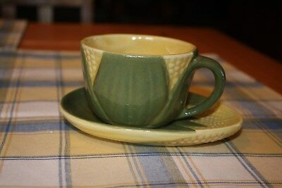 Shawnee Corn King Cup and Saucer Set- NR Auction!