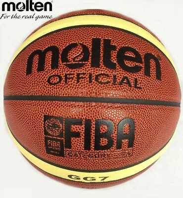 Molten GG7 Basketball Size 7 PU Leather With Gift Net Bag Needle High Quality