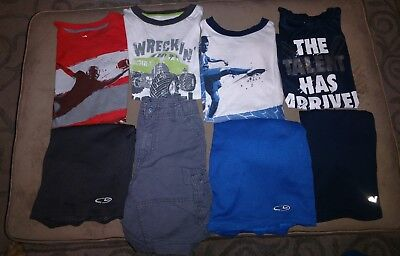 35) Huge Boys Size 6-7 Summer Clothing/pajama Lot Nike Oshkosh Champion Circo