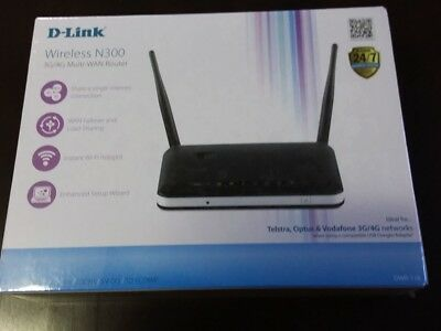 D-Link Wireless N300 3G/4G Multi-WAN Router New Boxed
