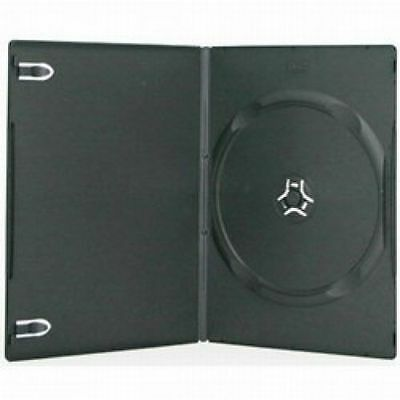 20 Slim Black w/ Clear Plastic Insert Cover for Labels DVD/ CD Cases 7 MM