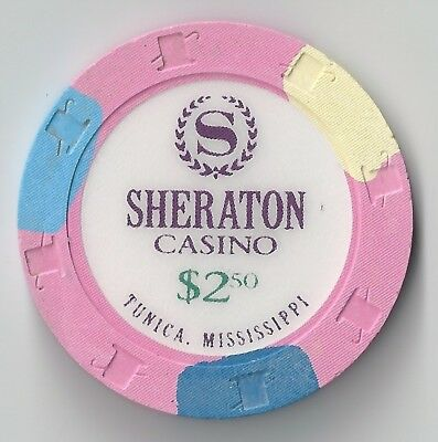 $2.50 Mississippi 1St Edt Sheraton Casino Chip Tunica