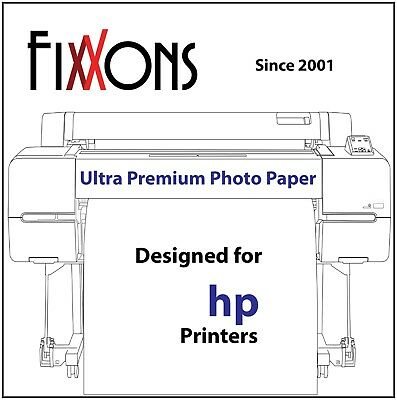 "Ultra Premium Glossy Inkjet Photo Paper for Hp 50"" x 100' Roll"