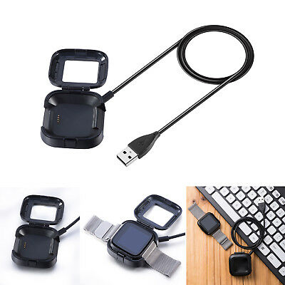 Stable USB Cable Charging Cradle Charger Dock Case for Fitbit Versa Smart Watch