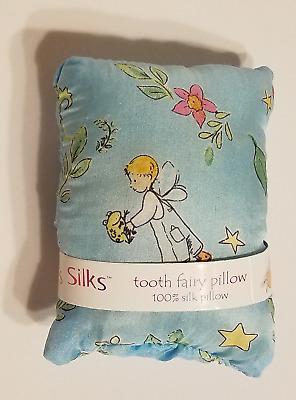 Sarah's Silks Silk Tooth Fairy Pillow Boy with Frog Print CUTE Waldorf BRAND NEW