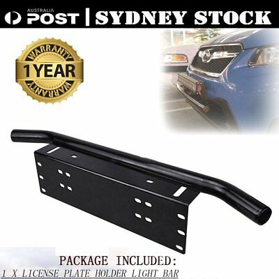 CAR Front Bumper License Plate Mount Bracket LED Work Light Bar UHF Holder H