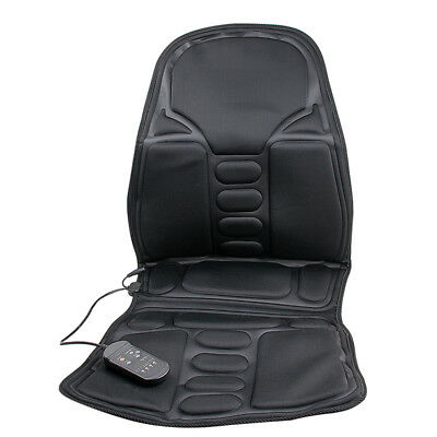 12V Auto Car Seat Chair Cushion Massage Back Body Heated Cover Pad Vibration USA