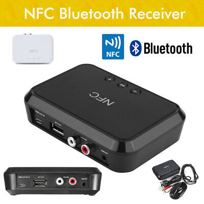 HIFI NFC Wireless Bluetooth Audio Receiver 3.5MM RCA USB Charger Music Adapter