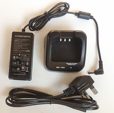 BC-160 Li-ion Rapid Charger Adapter for Icom IC-F3162T IC-F3162S IC-F4162T Radio