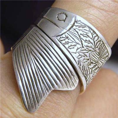 TROUT SYMPHONY Adjustable SilverSari Finger/Thumb Ring Solid 925 Stg Silver
