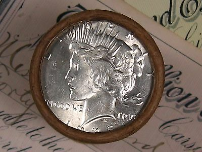 $20 SILVER DOLLAR ROLL 1935 and S-Mint PEACE DOLLAR ENDS