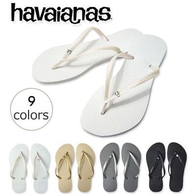 7597644eb Havaianas Slim Crystal Glamour Women Flip Flops Variety of Colors All sizes