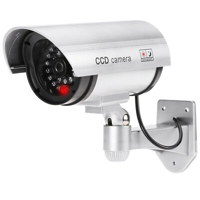 Dummy Home Security Camera with Motion Sensors Outdoor IR Flashing LED Light