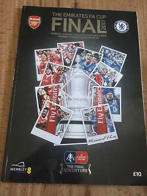 2017 FA Cup final programme arsenal v chelsea wembley stadium VGC condition