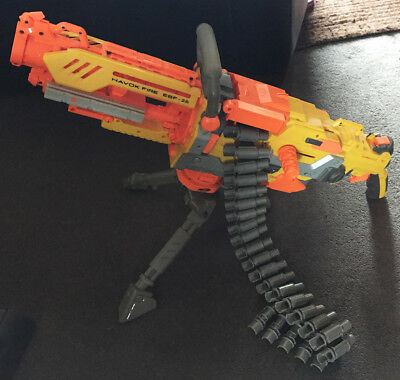 Nerf Havok Fire EBF -25 Ammo Belt Fed Gun Fully Working Great Condition