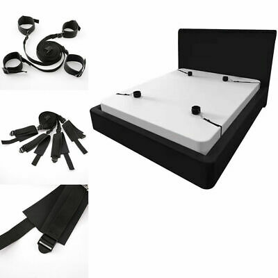 Bed Restraint System With Handcuffs Anklet Restraint Black Under the Fun Toys