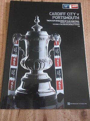 2008 FA Cup final programme portsmouth v cardiff city wembley  MINT condition