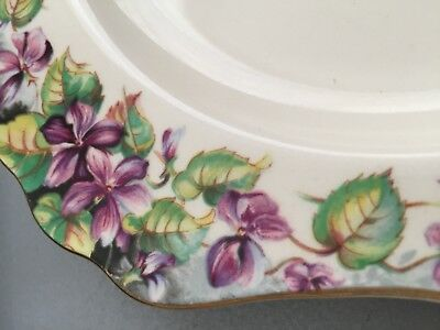 Royal Doulton Violets D.6400 Entree or biscuit plate.