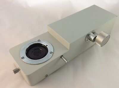 Leitz  Microscope 'Vario Tube' 1x - 3.2x Maginfication + Bertrand lens Orthoplan
