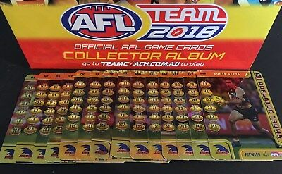 2018 AFL Teamcoach GOLD Code Cards - ADELAIDE CROWS - Unused Codes - SINGLES