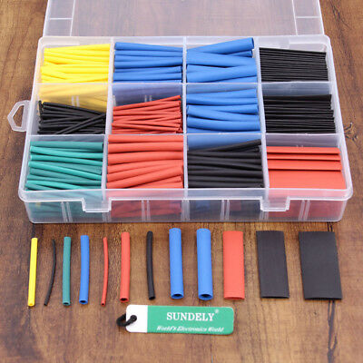 Heat Shrink Tubes Electric Insulation Tube Cable Wire Wrap Tubing Sleeve 560pcs