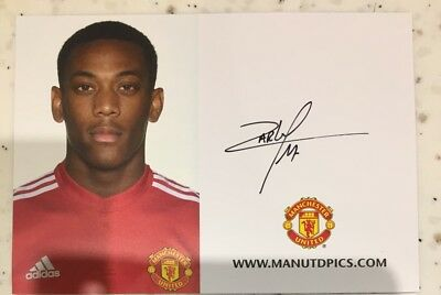 Anthony Martial Manchester United Hand Signed Authentic Club Card 2017/18