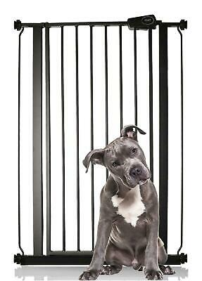 Safetots Extra Tall Premium Pet Gate Pressure Fit Dog Gate Matt Black 75-147.4cm