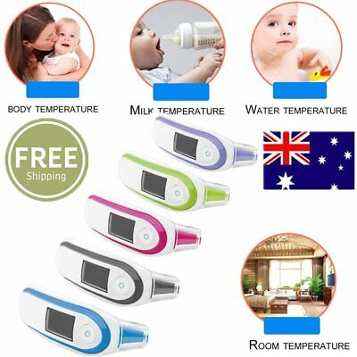 LCD Digital IR Thermometer Infrared Forehead Ear Temperature Meter Baby Adult SW