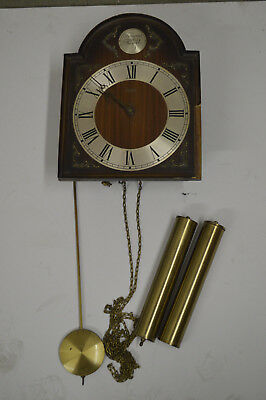 Vintage German Wehrle Wall Clock with Pendulum and Weights - For Parts Only