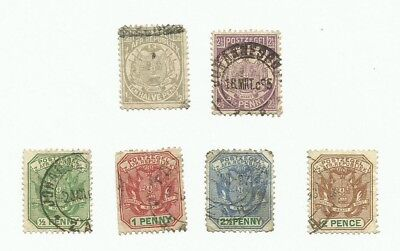 Transvaal. 6 early used stamps.