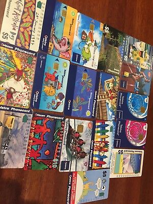 17Telstra Phone Cards Used - All DifferentIn Good Condition