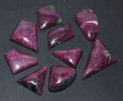 176Cts. Natural Ruby Zoisite Wholesale Lot Mix Cabochon Loose Gemstone 880