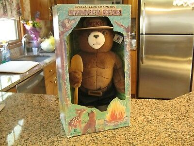 "Smokey The Bear Large Doll, 1994 "" New "" In Box, J.J. Wind Inc. Limited Edition"