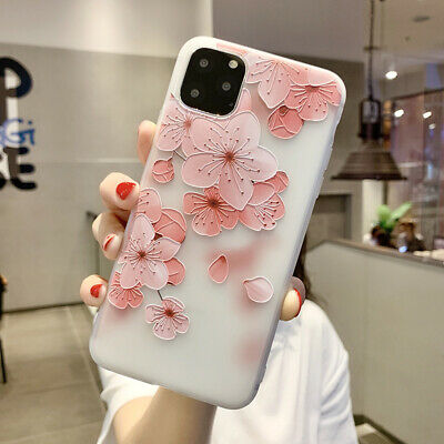 For iPhone X 8 6 7 Plus Slim Soft TPU Shockproof Matte Floral Pattern Cover Case