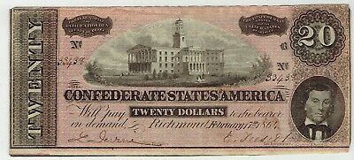 The Confederates States of America $20.00 Note
