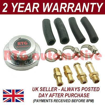 Variable 1-5 Psi Fuel Pump Pressure Regulator + 6Mm 8Mm 10Mm Tails Kit Car