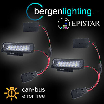 For Volkswagen Golf Beetle Scirocco 18 Led Number Plate Light Lamp Pair