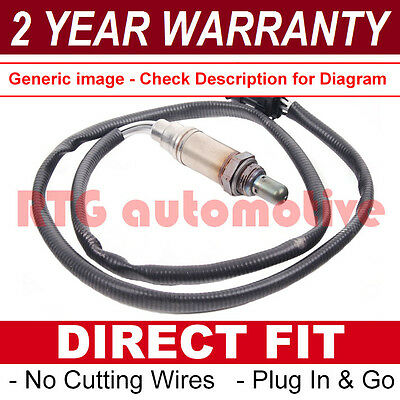 For Ford Ka 1.3 Rear 4 Wire Direct Fit Lambda Oxygen O2 Exhaust Sensor Connector