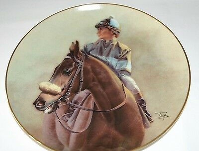 """Fred Stone Painting """"John Henry"""" Plate Horse Racing Collectible China #1492"""