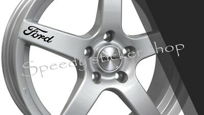 Ford Logo Alloy Wheel Vinyl Stickers x5 - Graphics decals 8CM X 2.8CM