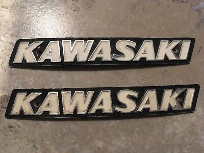 Kawasaki kz motorcycle gas tank emblems