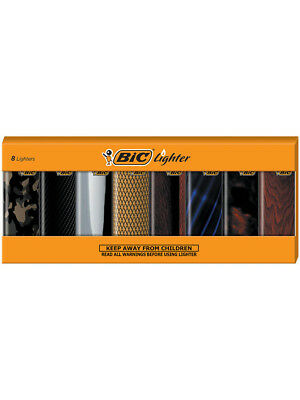 BIC Special Edition Refined Series Lighters, Set of 8 Electronic Lighters