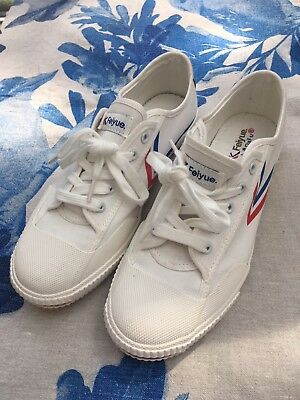 Brand New White Feiyue Trainers - Size 42 - Never Worn