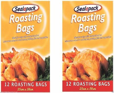 24 X Large Roasting Bags Oven Microwave Poultry Meat Fish Vegetables
