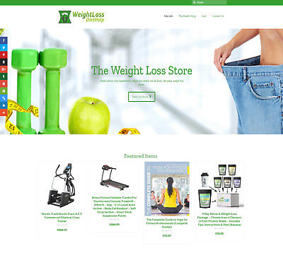 Automated DIET / SLIMMING business: FREE Domain/Hosting/SEO Up to £139 per sale!